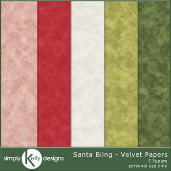 Santa Bling - Velvet Papers