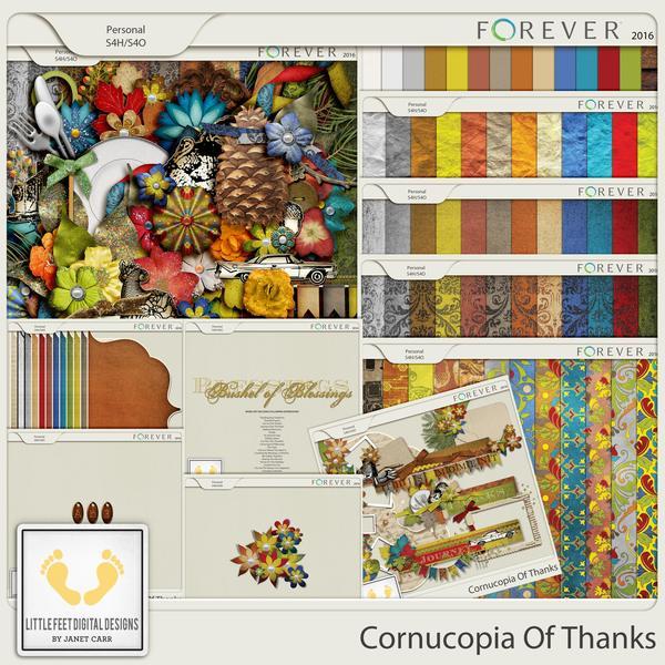 Cornucopia Of Thanks Bundle Digital Art - Digital Scrapbooking Kits