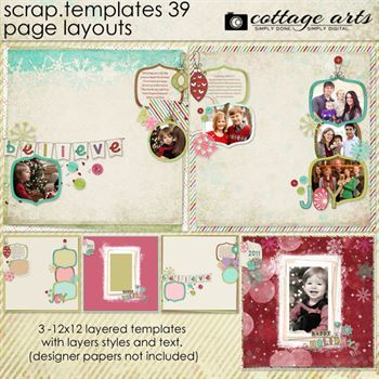 12 X 12 Scrap Templates 39 - Page Layouts