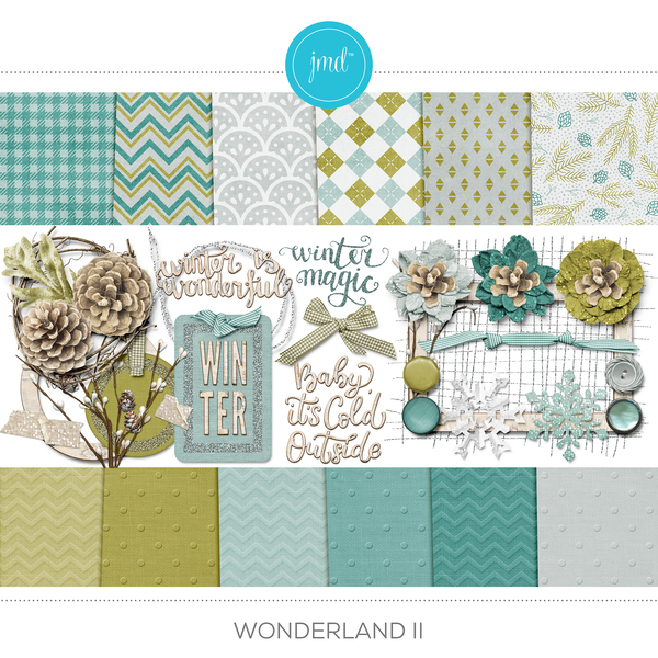 Wonderland II Digital Art - Digital Scrapbooking Kits