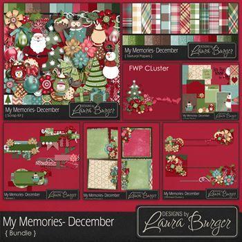 My Memories December Bundle - Fwp Clusters