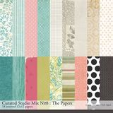 Curated Studio Mix Scrapbooking Kit No. 08