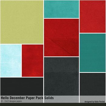 Hello December Solids Paper Pack