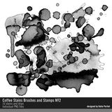 Coffee Stains Brushes And Stamps No. 02