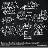 Chalkboard Christmas Sentiments Brushes And Stamps No. 03