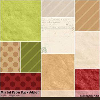 Min Jul Add-on Paper Pack