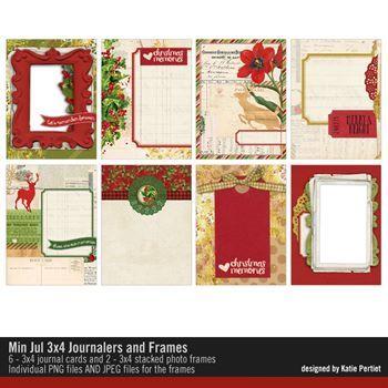 Min Jul 3x4 Journal Cards And Frames