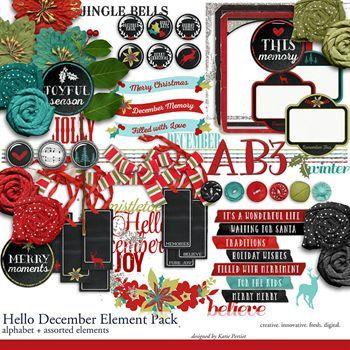 Hello December Element Pack