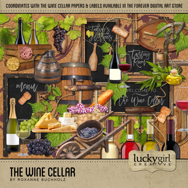 The Wine Cellar Digital Art - Digital Scrapbooking Kits