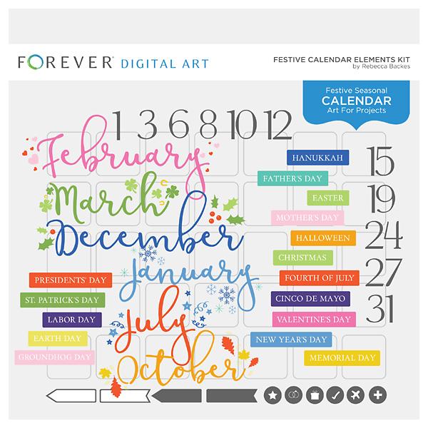 Festive Calendar Elements Kit