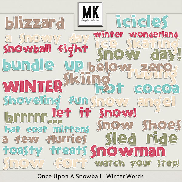 Once Upon A Snowball - Winter Words
