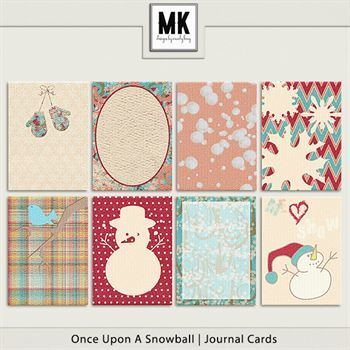 Once Upon A Snowball - Journal Cards