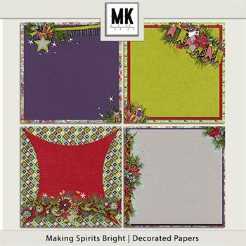 Making Spirits Bright - Decorated Papers