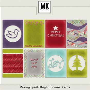 Making Spirits Bright - Journal Cards