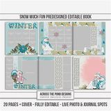 12 X 12 Snow Much Fun 20 Page Predesigned Book
