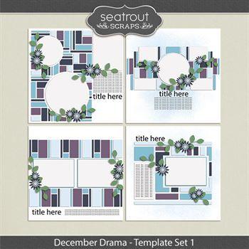 December Drama Template Set 1
