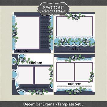 December Drama Template Set 2