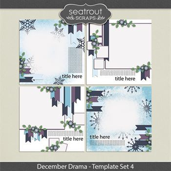 December Drama Template Set 4