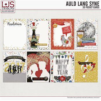 Auld Lang Syne - 3d Cards Digital Art - Digital Scrapbooking Kits