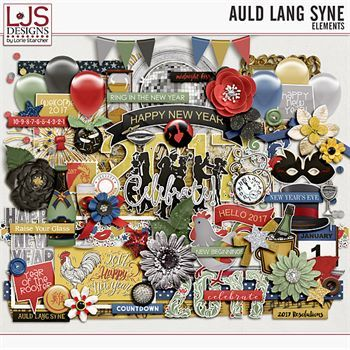 Auld Lang Syne - Elements Digital Art - Digital Scrapbooking Kits
