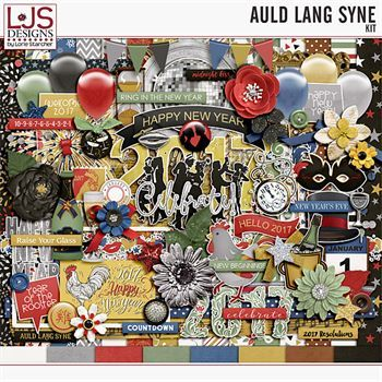 Auld Lang Syne - Kit Digital Art - Digital Scrapbooking Kits