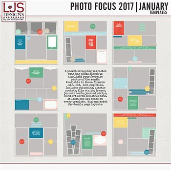 Photo Focus 2017 - January Templates Digital Art - Digital Scrapbooking Kits
