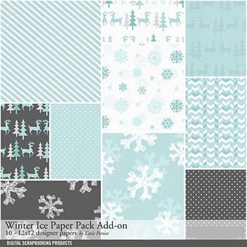 Winter Ice Add-on Paper Pack