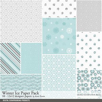 Winter Ice Paper Pack