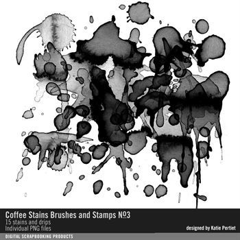 Coffee Stains Brushes And Stamps No. 03 Digital Art - Digital Scrapbooking Kits