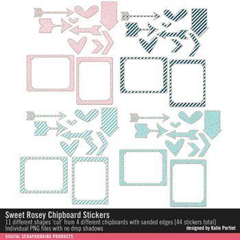 Sweet Rosey Chipboard Stickers
