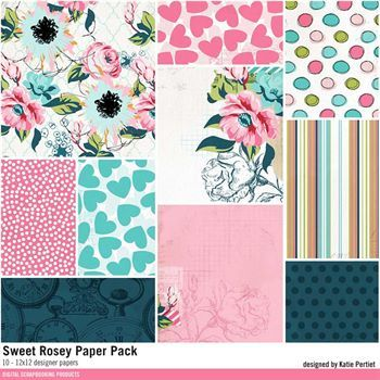 Sweet Rosey Paper Pack