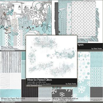 Winter Ice Scrapbooking Collection