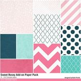 Sweet Rosey Add-on Paper Pack