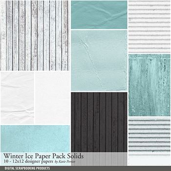 Winter Ice Solids Paper Pack