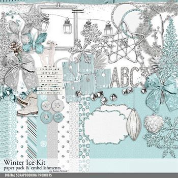 Winter Ice Scrapbooking Kit