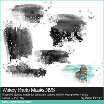 Watery Photo Masks No. 08