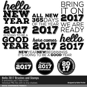 Hello 2017 Brushes And Stamps