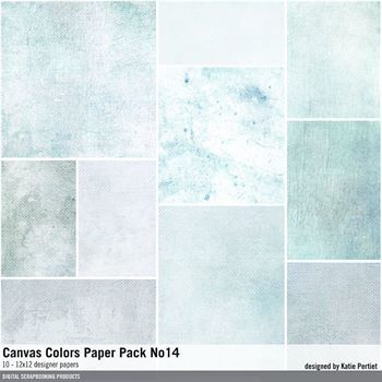 Canvas Colors Paper Pack No. 14 Digital Art - Digital Scrapbooking Kits