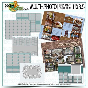 11x8.5 Multiphoto Blueprint Collection