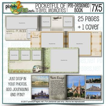 Pocketful Of Travel Memories Digital Art - Digital Scrapbooking Kits