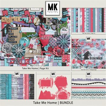 Take Me Home - Discounted Bundle Digital Art - Digital Scrapbooking Kits