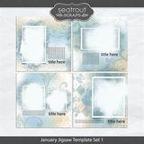 January Jigsaw Template Set 1