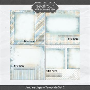 January Jigsaw Template Set 2