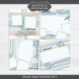January Jigsaw Template Set 3