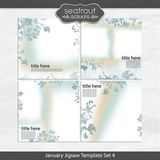 January Jigsaw Template Set 4