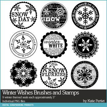 Winter Wishes Brushes And Stamps