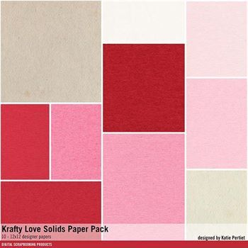 Krafty Love Solids Paper Pack