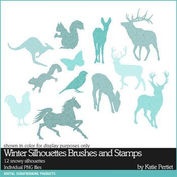 Winter Silhouettes Brushes And Stamps