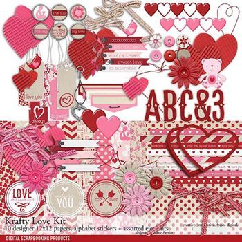 Krafty Love Scrapbook Kit