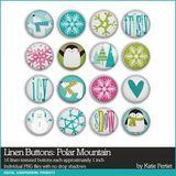 Polar Mountain Linen Buttons